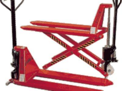 Hidrauliniai padėklų transportavimo vežimėliai
