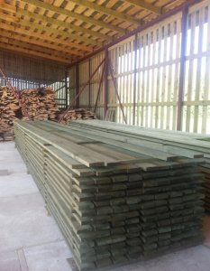 Statybinė impregnuota mediena